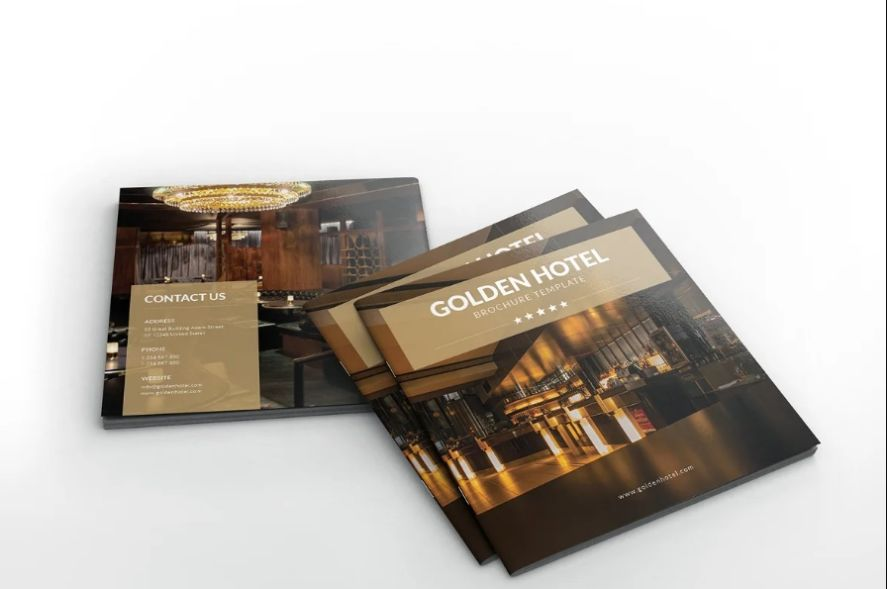 Square Hotel Brochure Template