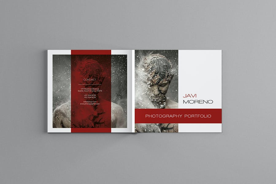 Square Photography Brochure Template