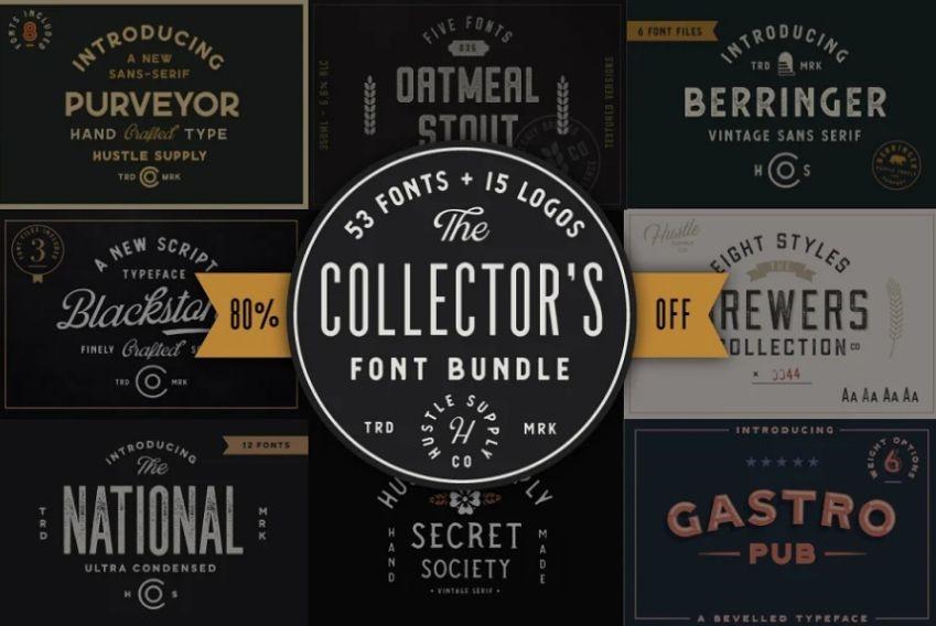 Stamp Style Font Bundle