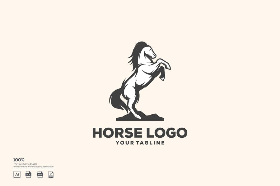 Standing Horse Logo Ideas