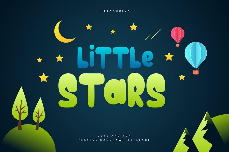 Star Fonts for Children Book