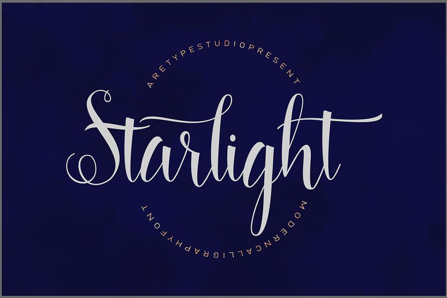 Starlight Calligraphy Style Fonts
