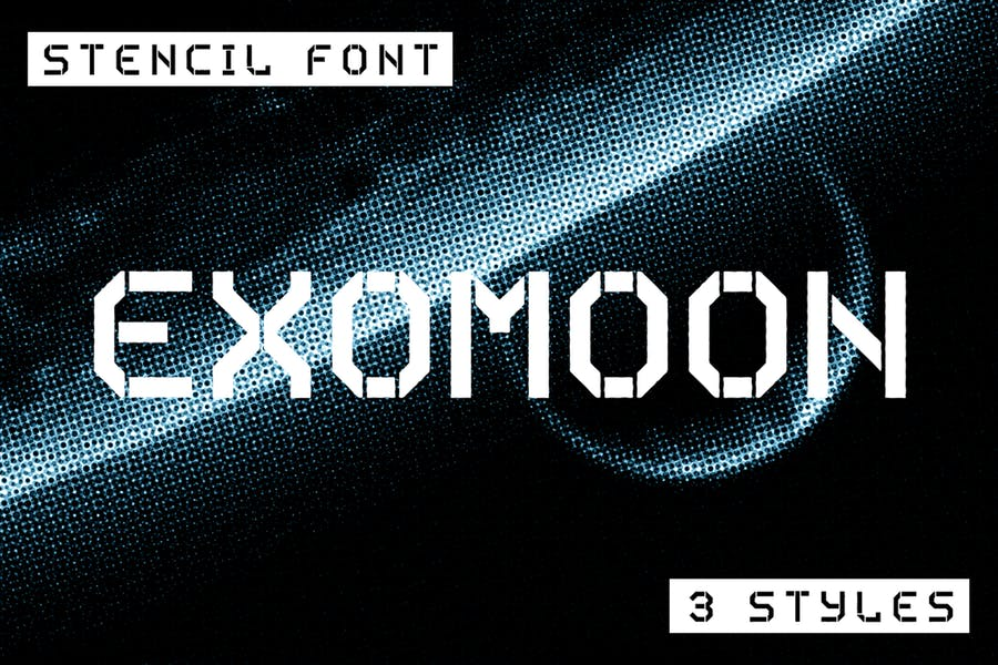 Stencil Style Robot Fonts