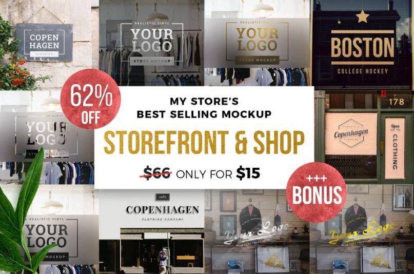 Storefront and Shop Branding Mockups