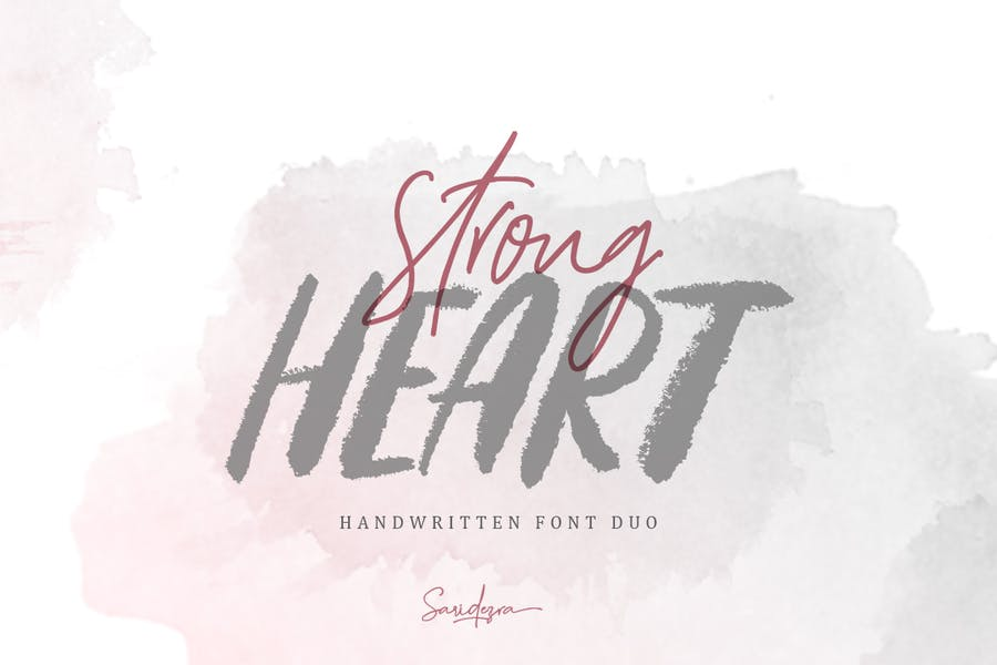 Strong Heart Display Font