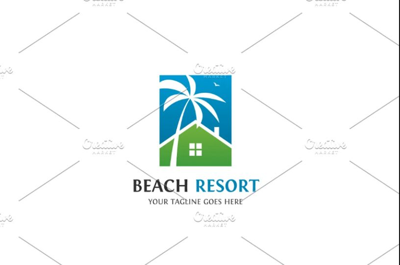 Stylish Beach Resort Logo