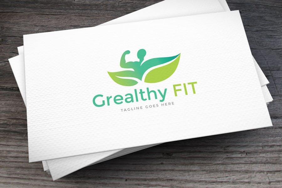 Stylish Fitness Branding Design