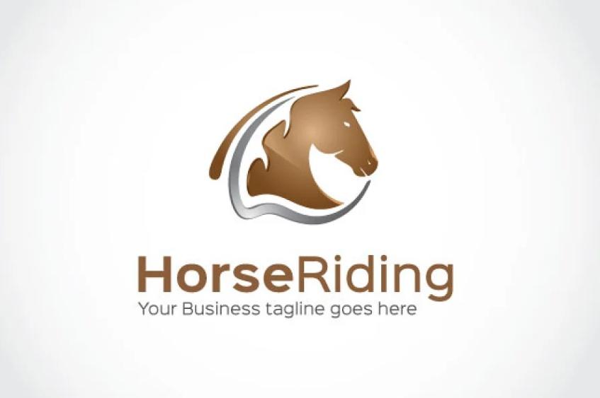 Stylish Horse Logo Template