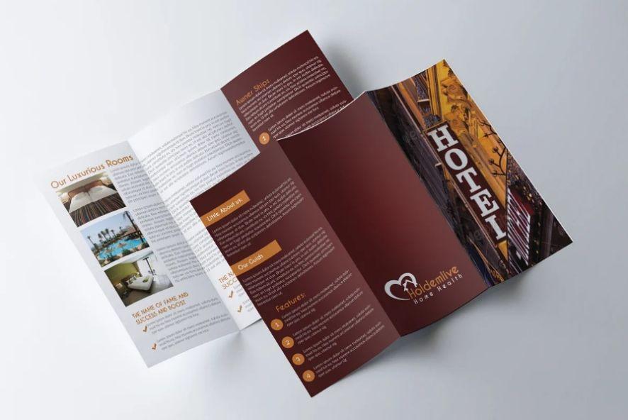 Stylish Hotel Brochure Templates