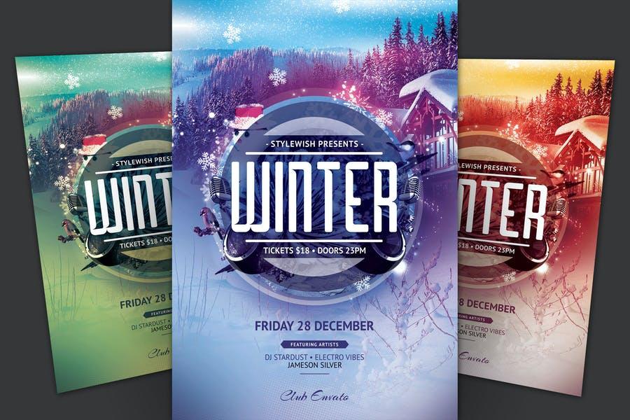Stylish Winter Flyer Template