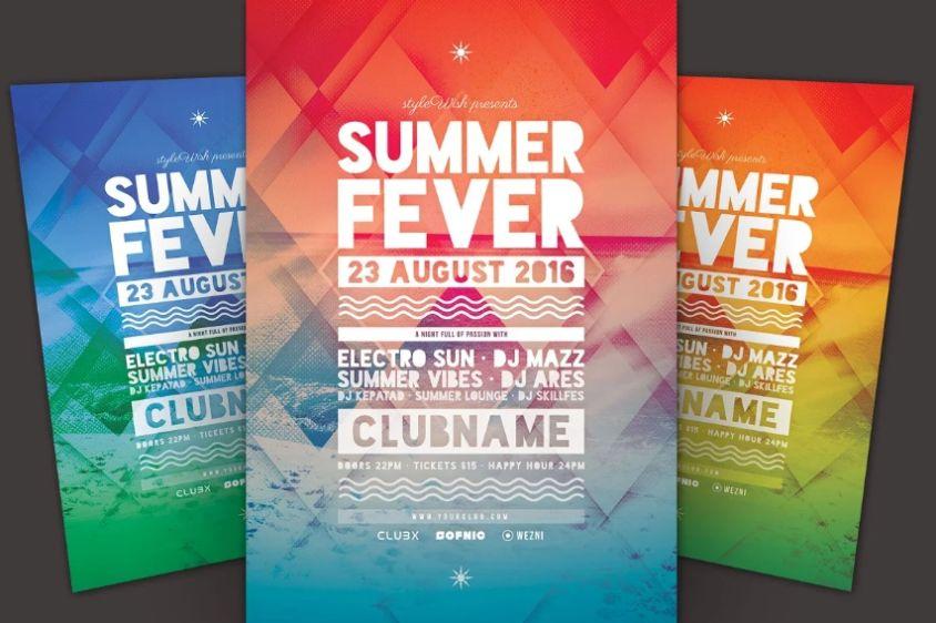 Summer Break Flyer Designs