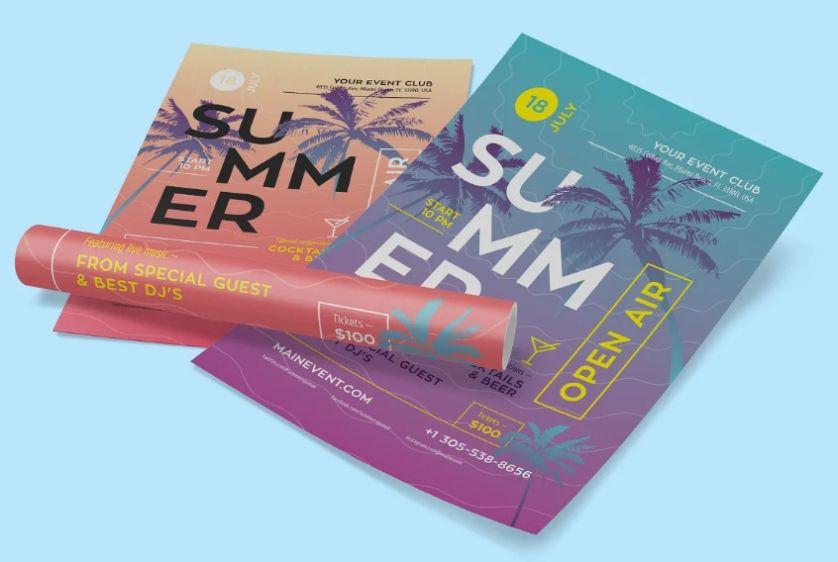Summer Event Flyer Design