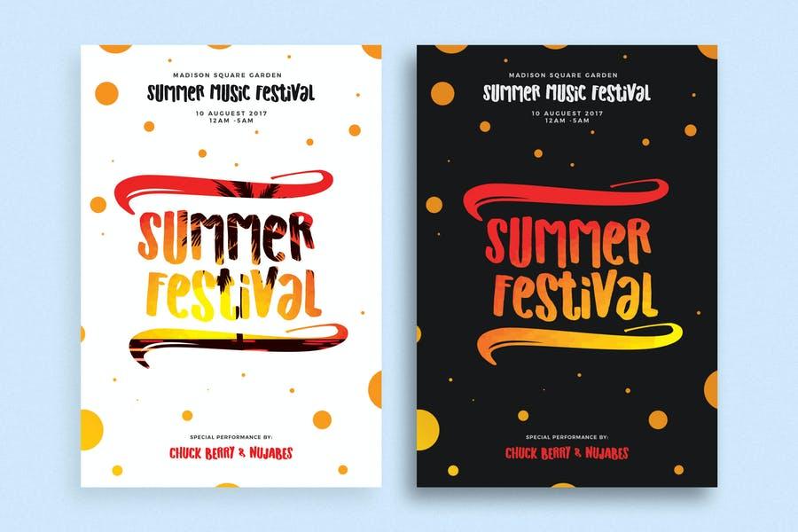 Summer Flyer Poster Template