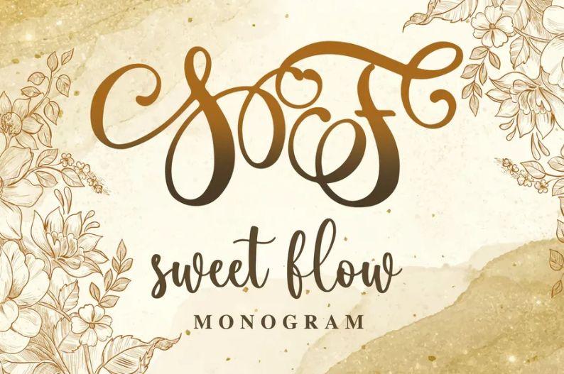 Sweet Monogram Typeface
