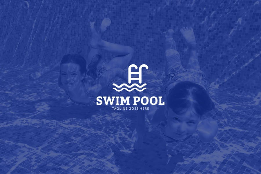 Swimming Pool Logo Design Template