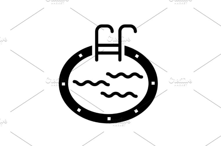 Swimming Pool Logo and Icon