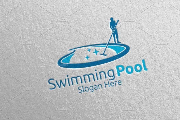 Swimming Pool Services Logo Design