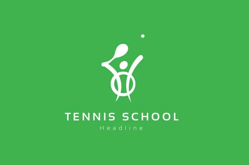 Tennis School Logo Ideas