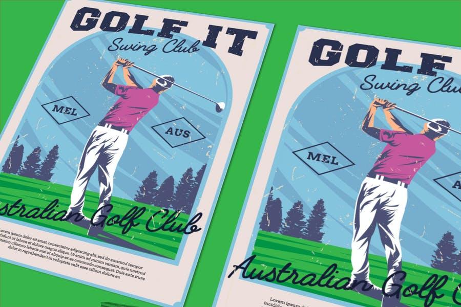 Text Editable Golf Flyerr