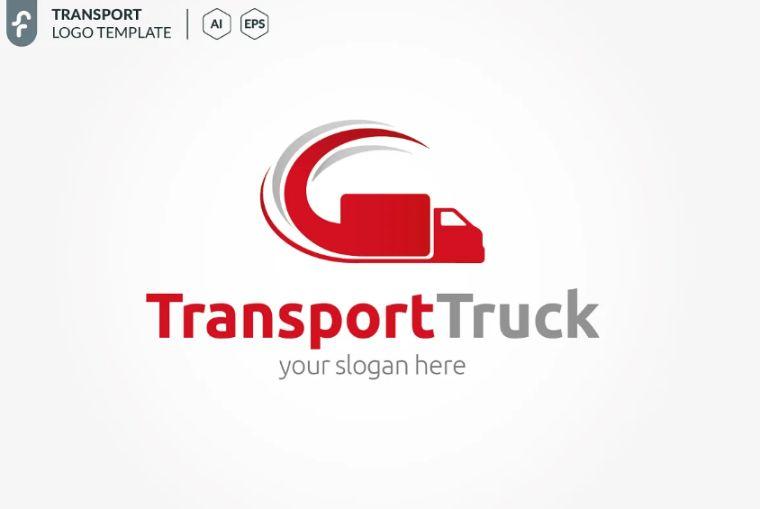 Transport Truck Logo Design Template