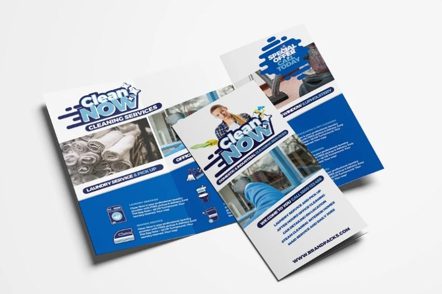 Tri Fold Cleaning Services Brochure Template