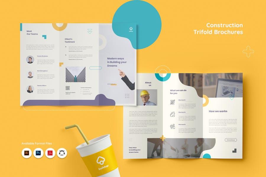 Tri Fold Construction Brochures