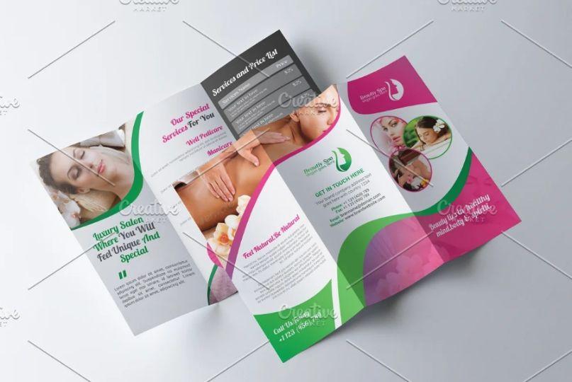 Tri Fold Spa Promotional Template