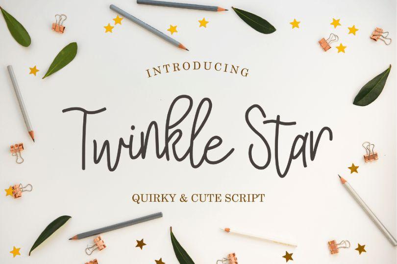 Twinkle Star Script Fonts