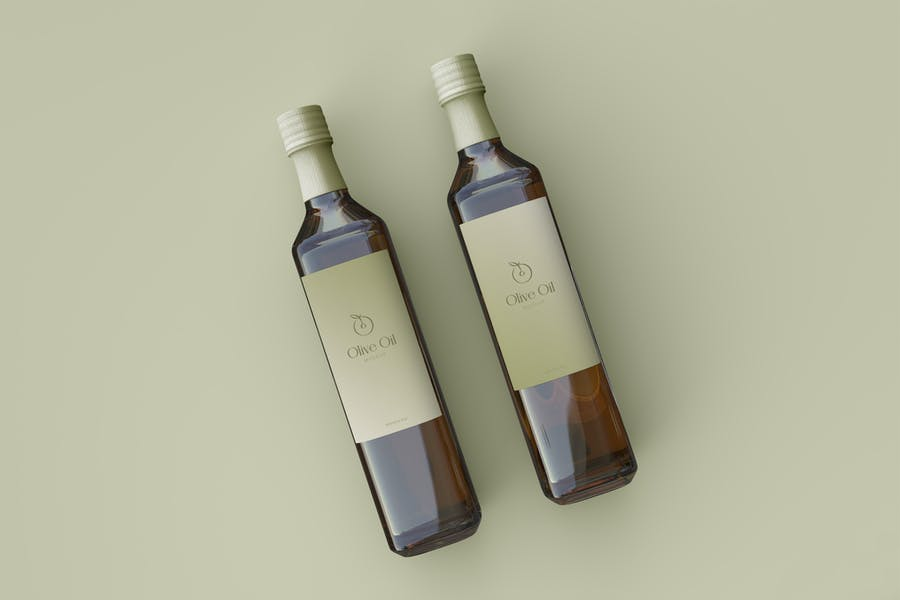 Two Olive Oil Label Mockups