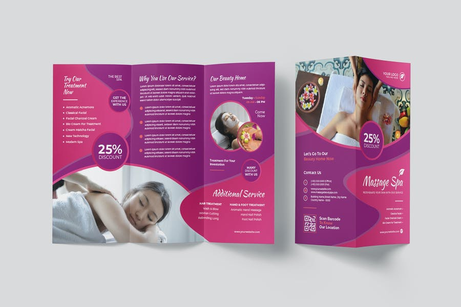 Two Sided Spa Brochure