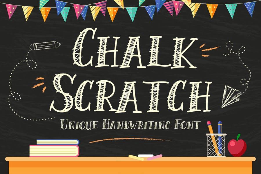Unique Chalk Scratch Fonts