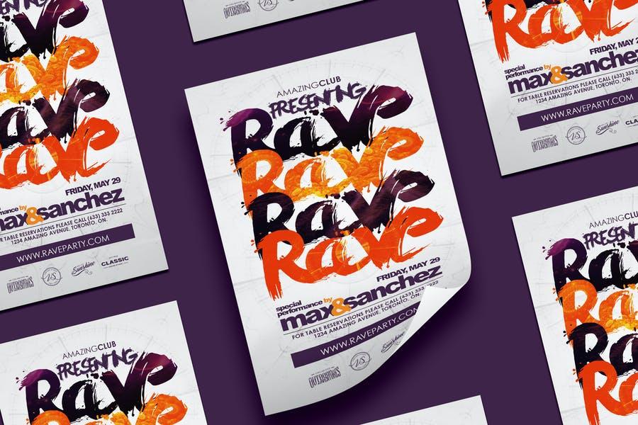Unique Rave Party Flyers
