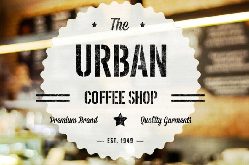 Urban Stencil Display Typeface