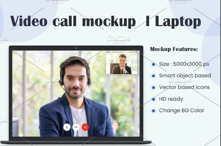 Video call Mockup PSD