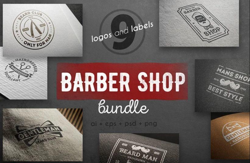 Vintage Barber Logo Bundle