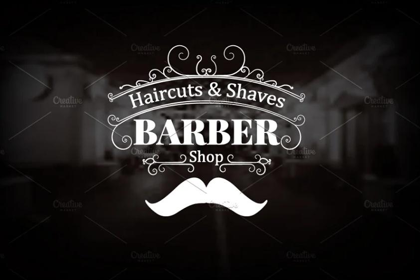 Vintage Barber Shop Logo Template