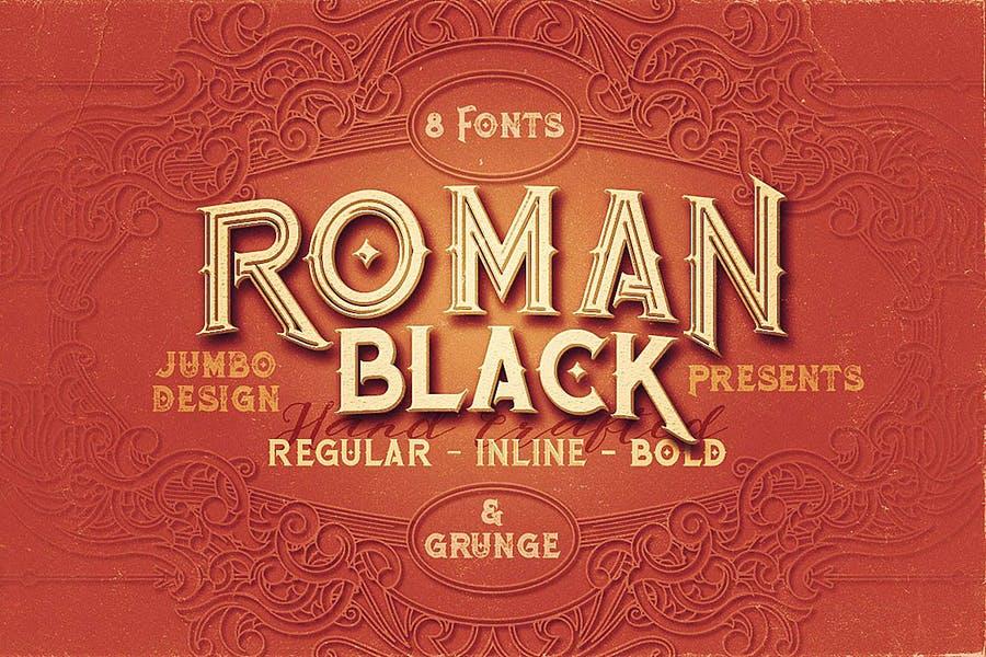Vintage Block Fonts