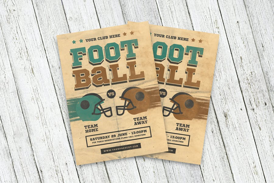 Vintage Football Flyer