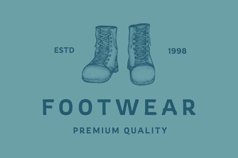 Vintage Footwear Logo Design