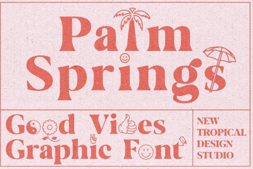 Vintage Palm Springs Typeface