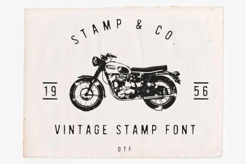 Vintage Stamp Styled Font