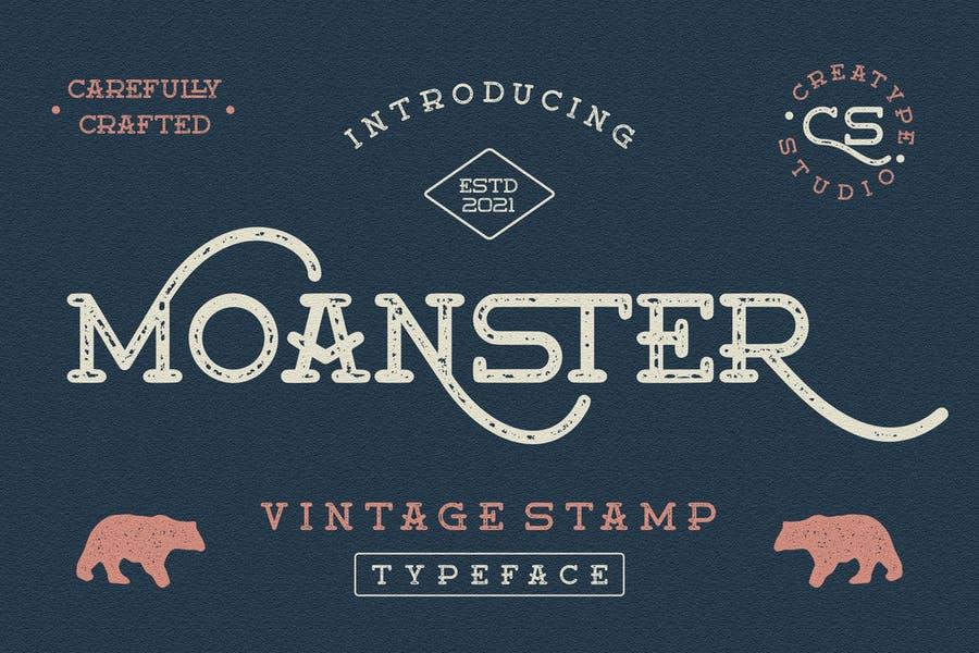 Vintage Style Stamp Logo Font