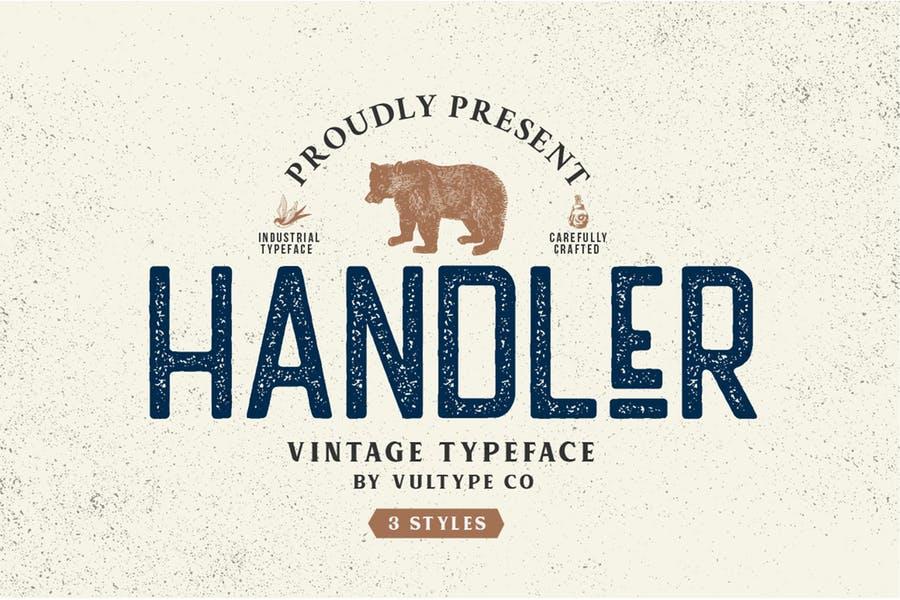 Vintage Textured Typeface