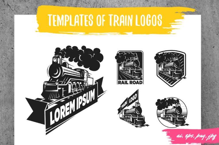 Vintage Train Engine Logo