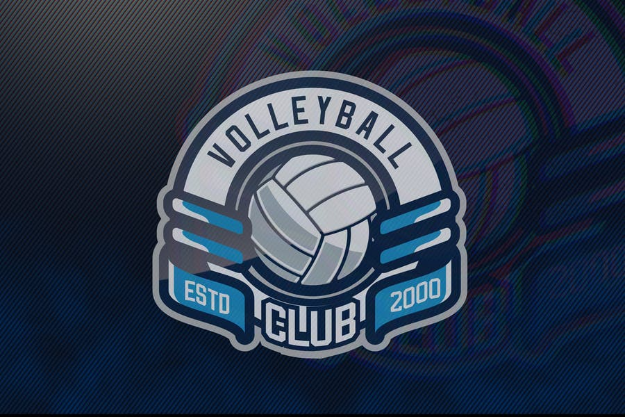 Volleyball Club Logo Template