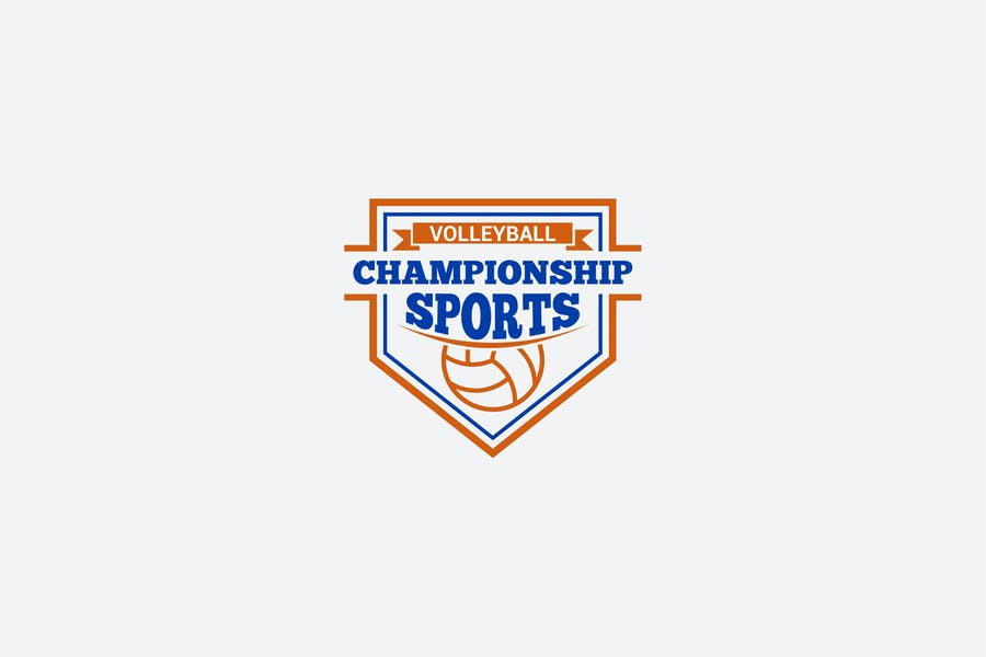 Volleyball League Logo Identity