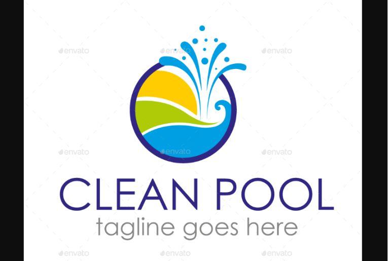 Wave Style Pool Logo