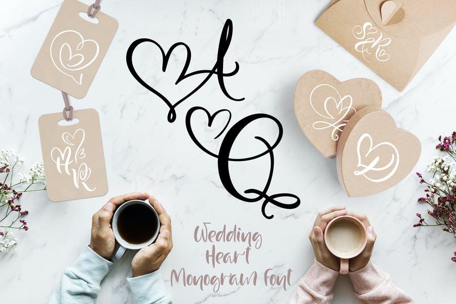 Wedding Heart Display Fonts
