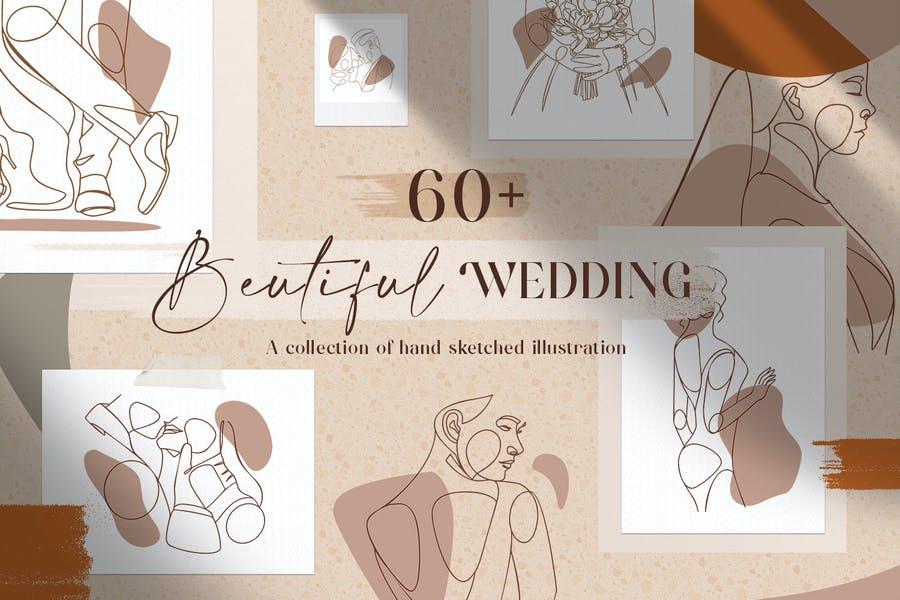 Wedding Logo Design Illustration