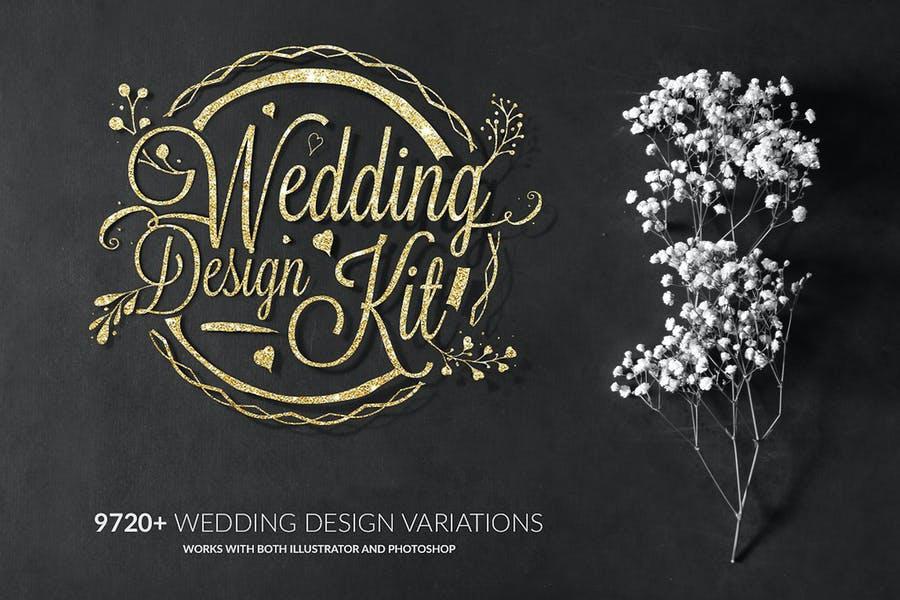 Wedding Logo Design Kit